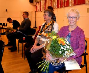Gympaledaren Karin Larsson fick månadens blombukett