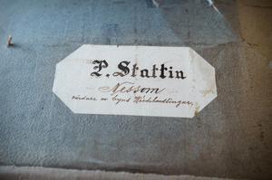 En av dokumentmapparna som Åse hittade under rivning och renoverings arbetet.