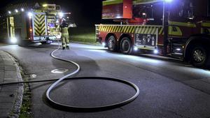 Larm om brand i garage