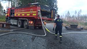 En av de bränder som misstänks vara anlagd är den vid Finntorpsvägen.