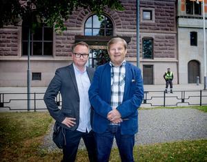 Mittmedias partiledarteam: Robban Andersson (tv/foto), Klas Leffler (text).