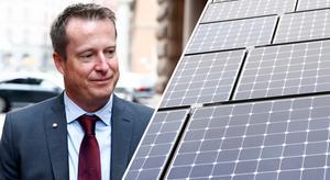 Energiminister Anders Ygeman (S) har frågan om solcellsstöd på sitt bord. Foto: Fredrik Persson/TT och Henrik Montgomery/TT