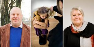 Socialnämndens Lars Öberg, S, och Ewa Marja Andersson, M, har olika syn på vem som ska fatta beslut om att inte polisanmäla misstänkta brott mot barn. Nu har tjänstemännen återfått beslutsrätten efter ett par år med politisk överrock.