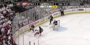Klassiskt hockeyögonblick, när Henrik Zetterberg dominerade i spel tre mot fem mot Pittsburgh i Stanley Cup-finalen. Det som kallas