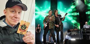 Fredrik Lilliestråle Stéen från Hällefors turnerar med Gyllene Tider på bandets avskedsturné. Och sköter vip-gästerna, som är inbjuden blåljuspersonal, till popbandets konserter.