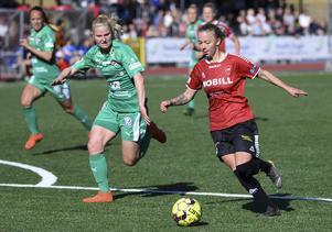 Nathalie Hoff Persson har gjort fem matcher med U23-landslaget och har på dessa noterats för ett mål. Foto: Johan Nilsson/TT