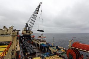 Bild från 2010 när den första gasledningen byggdes. Foto: Sören Andersson / SCANPIX