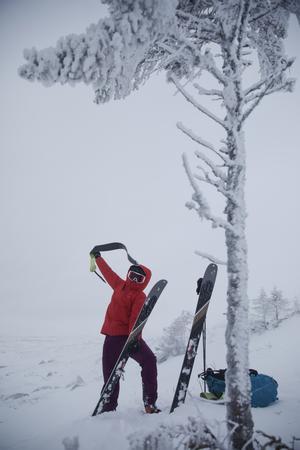Anette Andersson gillar att träna utomhus efter säsong. Topptur, längd, löpning eller klättring.
