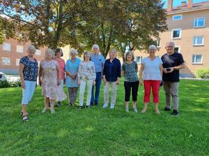 Skrivargruppen tillsammans med ledaren Tord Andersson längst till höger. Fotograf: Maj-Britt Norlander