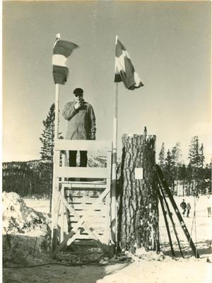 Landshövding Gösta Elfving inviger Idre Fjäll 1968. Foto Idre Fjäll