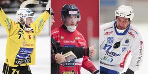 Vadim Arkhipkin, Tommi Määttä och Mikko Lukkarila – tre elitseriespelare som representerar Ryssland respektive Finland i helgen. FOTO: Peter Axman/Andreas Tagg