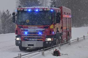 Totalt sju räddningsfordon kallades till olycksplatsen.