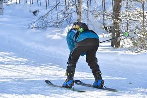 På slalomskidor i Öppet Spår.