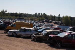Det passerar ungefär 2000 bilar per år vid Häggs bildemontering i Vattlång.