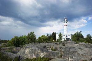 Skags fyr och klippor finns i omgivningen runt Skeppsmalens fiskeläge.