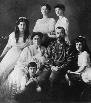 Kejsar Nikolaj II, Storfurste av Finland, tillsammans med sin familj.