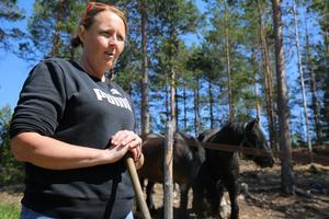 Brandkåren gjorde en fantastisk insats, säger Pernilla Davidsson.