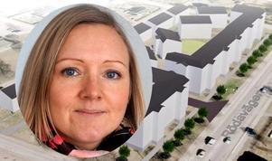 Linda Nilsson, plan- och markchef, gläds åt det stora intresset för Läroverksvallen.