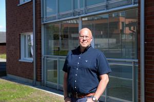 Micael Löfqvist är glad över att det gått så snabbt att bygga höghuset i Timrå.