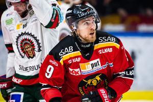 Johan Forsberg kommer inte att spela i tröja med nummer nio i Modo Hockey. Bild: Simon Eliasson/Bildbyrån