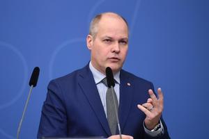 Justitie- och inrikesminister Morgan Johansson  besökte Örebro i fredags den 20 april