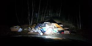 Dumpningsplats nummer två, precis vid infarten till Almnäs.