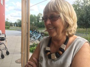 Anna-Greta Carlssons dotter Agneta, idag Bergqvist, hälsar gärna på sin mamma på äldreboendet.