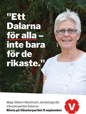 Vänsterpartiets landstingsråd Maja Gilbert Westholm vill se
