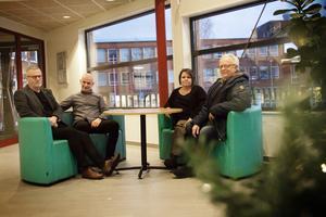 Lars Bäckström, Tomas Hellberg, Lena Dahlin och Janne Blomberg.