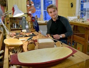 – Det är roligt med slevar, tycker norrmannen Ole Engmo, som sökt sig till Insjön för att utbilda sig – och som stortrivs.