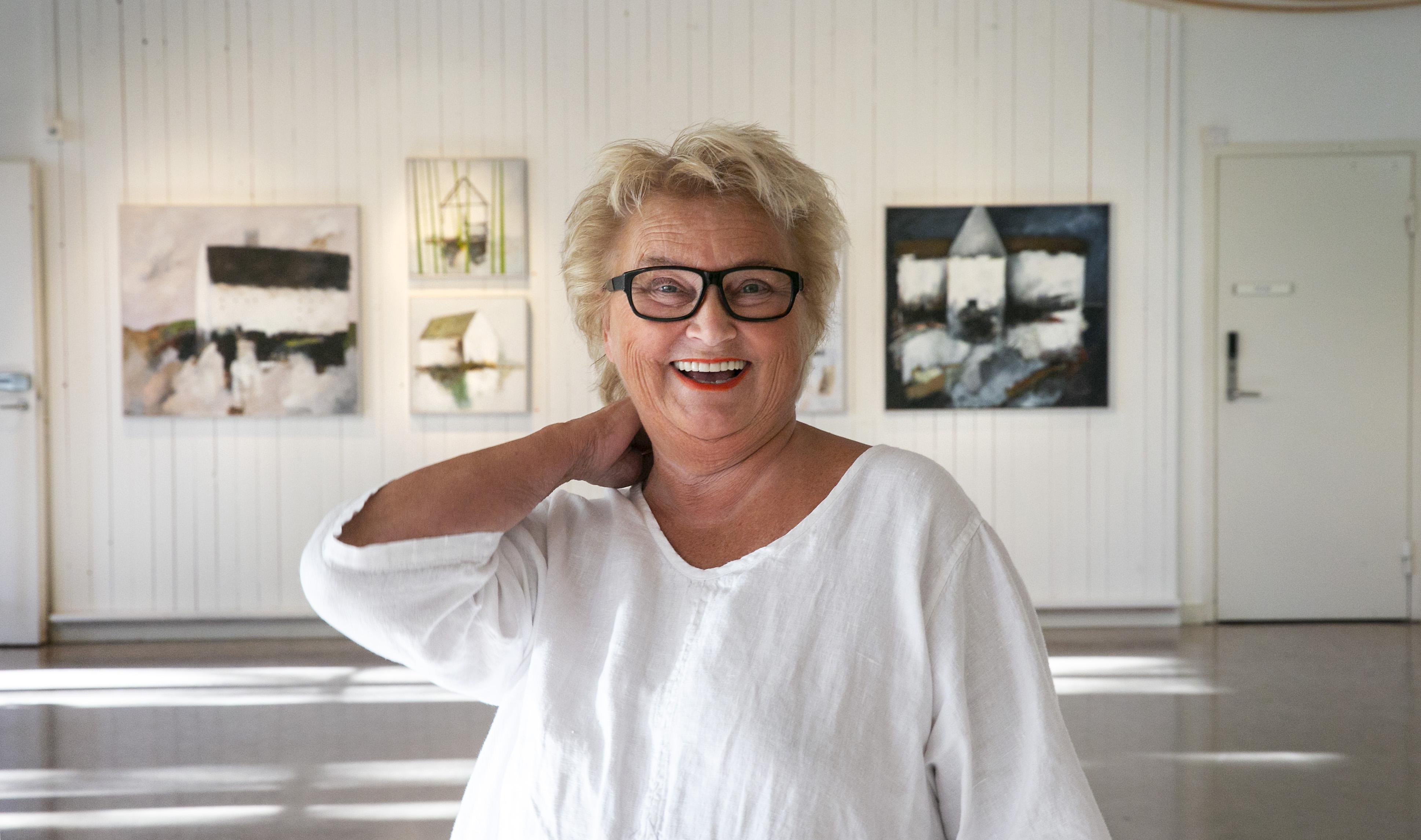 Det är första gången som Berit Melin ställer ut i Leksands kulturhus.