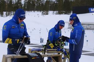 Martin Ponsiluoma känner att han tagit en plats i laget på allvar denna säsong. Här tillsammans med Sebastian Samuelsson och Fredrik Lindström.