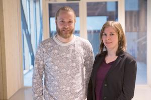 Miljöpartiets Lars Greger och Hanna Klingborg .