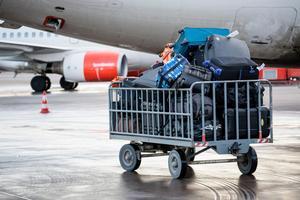 En bagagevagn med resväskor på Stockholm Arlanda AirportFoto: Christine Olsson / TT