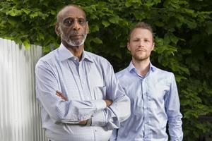 Två gånger under Fikru Marus fångenskap var Peter Alestig i Etiopien, men först efter frigivningen och hemkomsten träffades de. Foto: Jan-Åke Eriksson