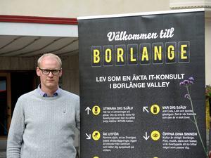 Christian Fredin, näringslivskontoret, åker till Lund för att locka IT-konsulter till Borlänge.