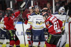 David Gustafsson suckar när Malmö gör mål i powerplay.