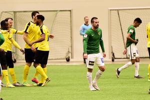 Fredric Fendrich deppar efter målet till 1-2.