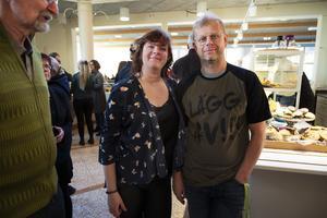 Malin Svedin och Perry Lindahl från Sundsvall fanns på plats för konserten.