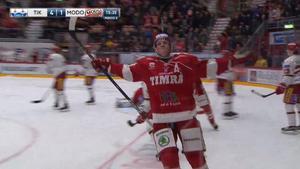 Timrås Erik Karlsson firar sitt 4–1-mål.