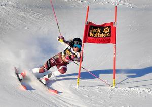 Frida Hansdotter under gårdagens tävling.
