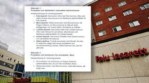 Av regionledningens verkställighetsbeslut och direktiv framgår det att köksverksamheten vid Falu lasarett kommer läggas ned eller förändras i grunden. Även köken i Mora och Ludvika kan påverkas. Montage: Lars Dafgård, Klockar Mattias Näs.
