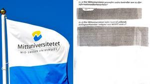 Mittuniversitetet vägrar att lämna ut en rapport som avslöjar graverande kritik när det gäller informationssäkerhet inom den egna verksamheten.