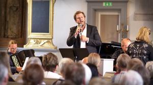 Basbaryton Andreas Franzén levererade Taube på bästa humör. Foto: Viktor Olaus Nygård