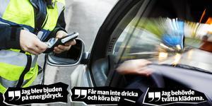Påhittigheten är stor bland rattfyllerister som försöker svära sig fri från att köra onykter. Montage: Robin Brinck.