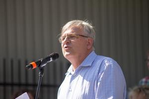 Peter Weiderud påminde om Sveriges och Arbogas historia i högtidstalet.