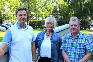 Liberalarna Hans Backman, Helena Englund och Peter Nordebo tar strid för att ett hospice ska byggas i Gävle.