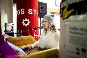Sandra Sjölander från Sollefteå var nära på att föda under resan till BB i Örnsköldsvik.