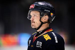 Marucs Högström under  en hemmamatch mot Oskarshamn på Hovet. Foto: TT