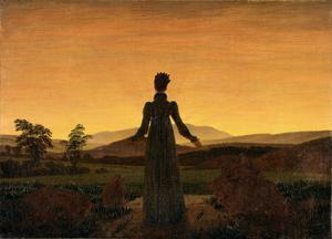 Morgonsolens ljus är ett återkommande motiv i konsten under romantiken här är Caspar David Friedrich